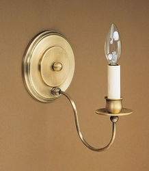 One Arm Wall Sconce with Round Backplate