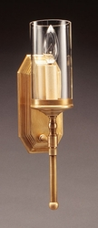 """Wall Sconce with 3"""" x 6"""" Clear Glass Cylinder"""
