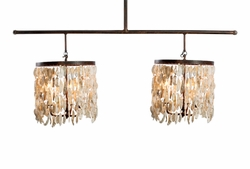 Wassau Double Shell Drum Chandelier Light