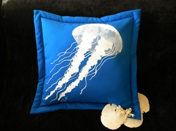 White Jellyfish on Royal Pillow