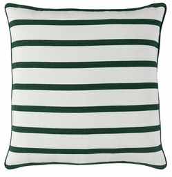 White With Green Stripe Pillow