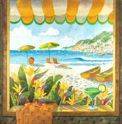 Window To The Sea Beach Print