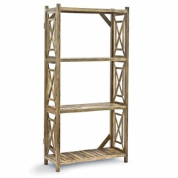 Wood Lattice Etagere<font color=a8bb35> NEW</font>