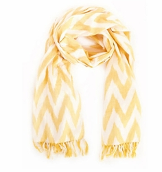 Yellow Ikat Beach Scarf<font color=a8bb35> 20% OFF</font>