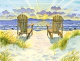 You and Me By The Sea Beach Print