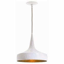 Ziggy Wide Hammered Iron Pendant Light