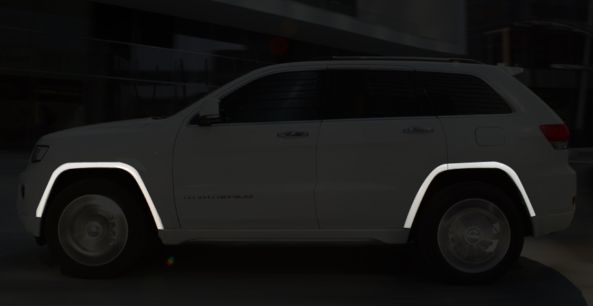 Paintable Wheel Flares From 2014 2018 Jeep Grand Cherokee