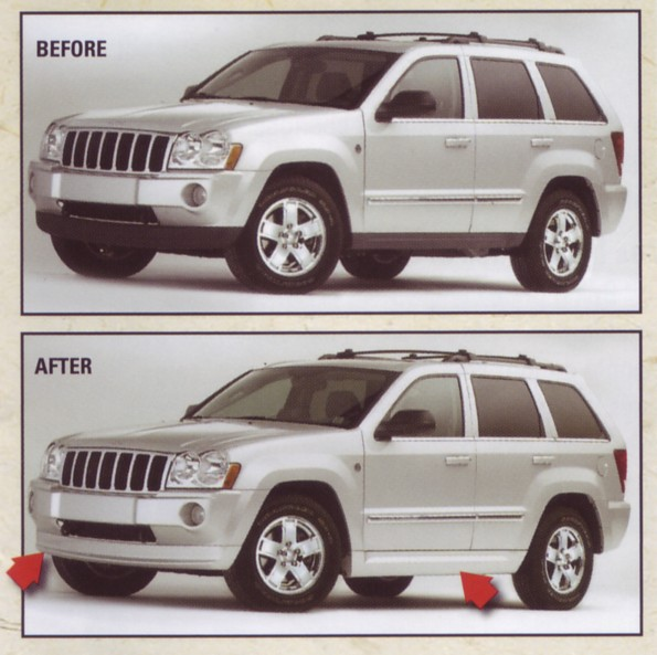 Color Matched Body Kit For Grand Cherokee Wkbodykits