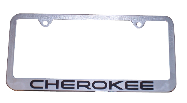 Premium Chrome License Plate Frame For Jeep Cherokee Is U