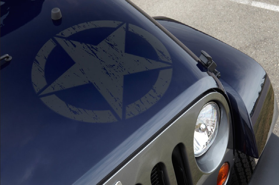 Star Hood Decal For Jeep Wrangler Freedom Edition Mopar