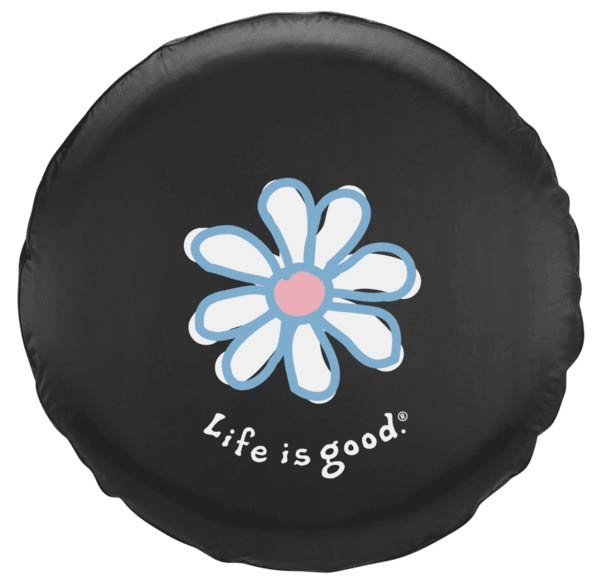 life is good daisy tire cover 13628. Black Bedroom Furniture Sets. Home Design Ideas