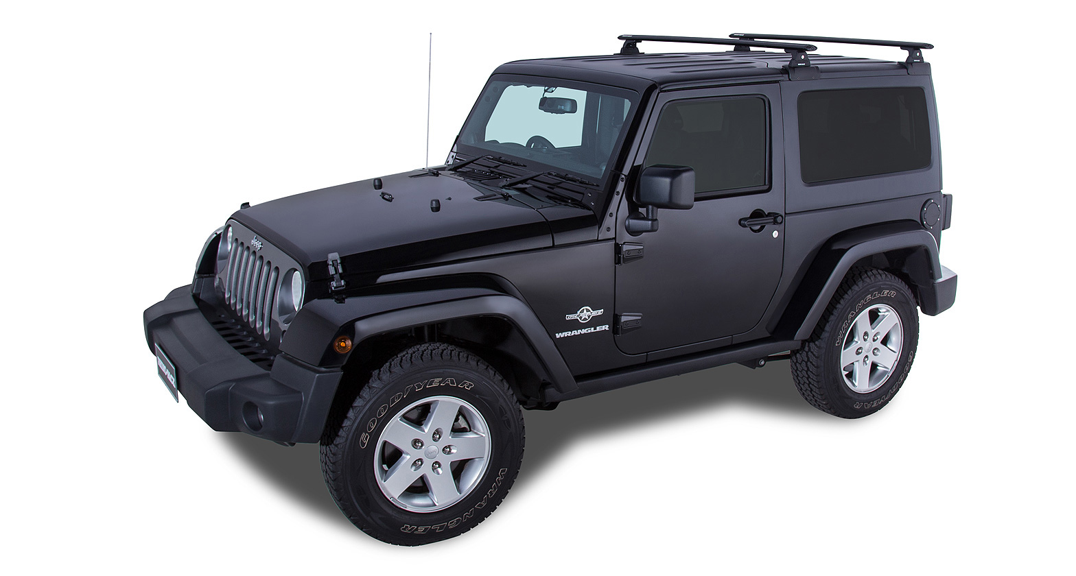 Wrangler Jeep Seat Covers >> Rhino Rack Vortex RLT600 Black 2 Bar Backbone Roof Rack (2 Door) #JA6382