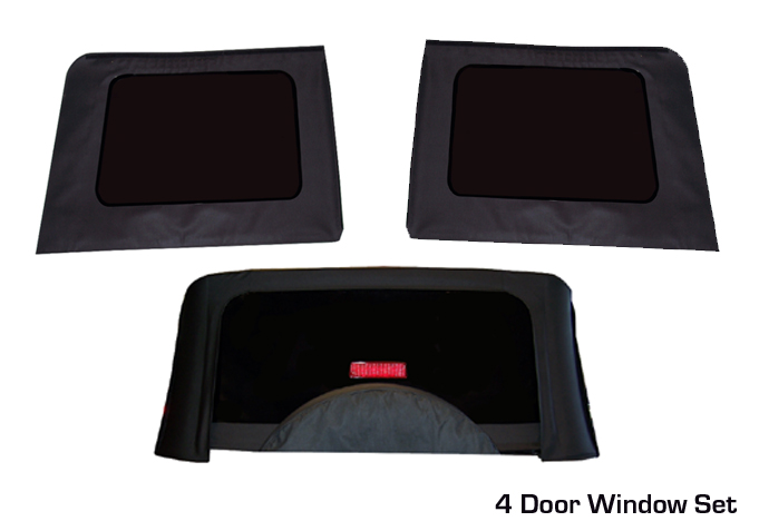 Jeep wrangler soft top tinted replacement windows from for Top 5 replacement windows