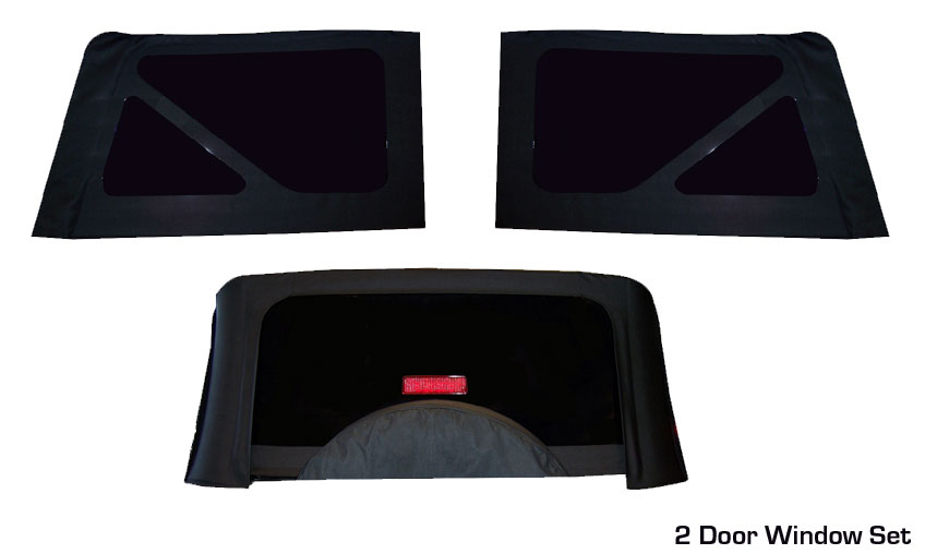 Jeep Wrangler Soft Top Tinted Replacement Windows From