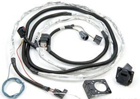 trailer tow wire harness kit for jeep wrangler mopar 82210214ab rh justforjeeps com ford trailer tow wiring harness