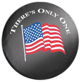 U.S. Flag Spare Tire Cover