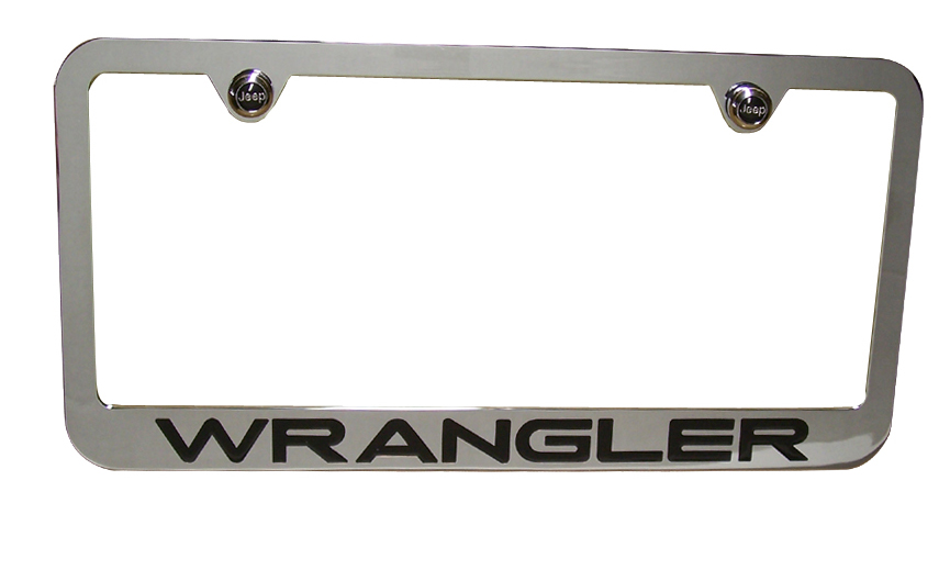 High Quality Wrangler Chrome License Plate Frame