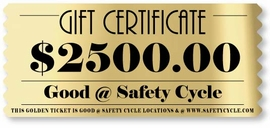 $2,500 Gift Certificate