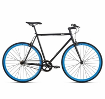 6ku fixie bike shelby black blue