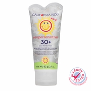 2.9oz California Kids #supersensitive Tinted Broad Spectrum SPF 30+ Sunscreen