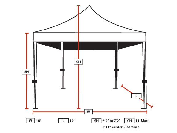 Heavy Duty Instant Canopy : Ft goliath heavy duty all aluminum instant