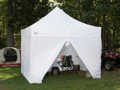 10 ft X 10 ft Goliath Heavy-Duty All-Aluminum Instant Canopy with Sidewalls - White : canopy tents with sides - memphite.com