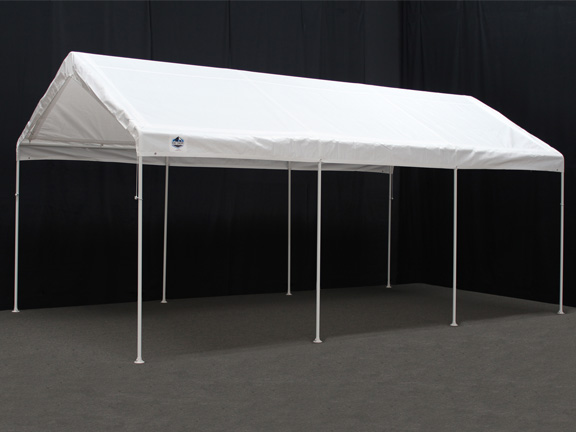 Portable Carports 10 20 : Universal portable garage canopy with enclosure walls