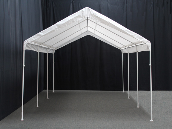 King Canopy 10 Foot x 20 Foot Universal Canopy with White Cover and Drawstrings & Canopy 10 Foot x 20 Foot Universal Canopy with White Cover and ...