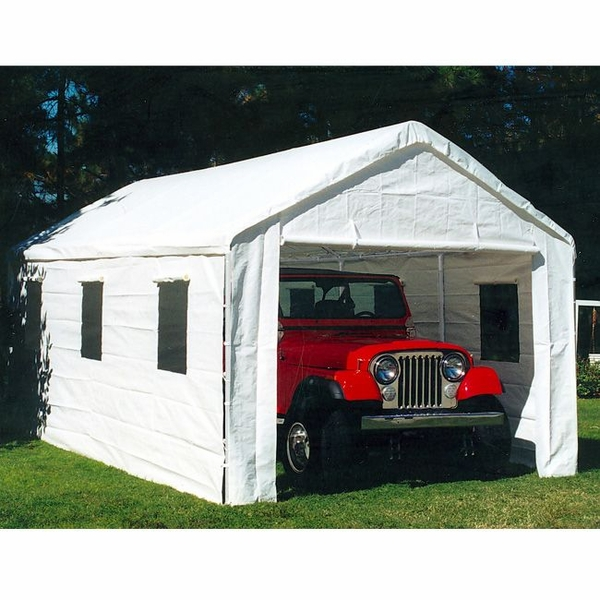 Garage Canopy Attachments : Universal portable garage canopy with enclosure walls