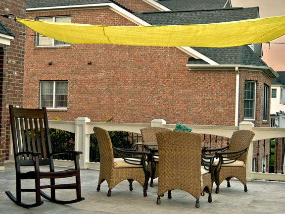 16 Foot Quadrilateral Sun Shade Canopy Sail With Hardware