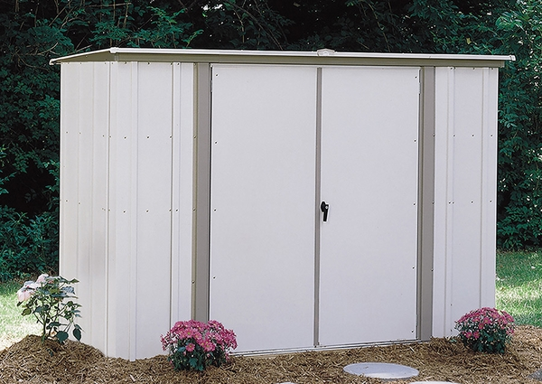 Arrow 8 X 3 Foot Garden Shed In Coffee And Taupe