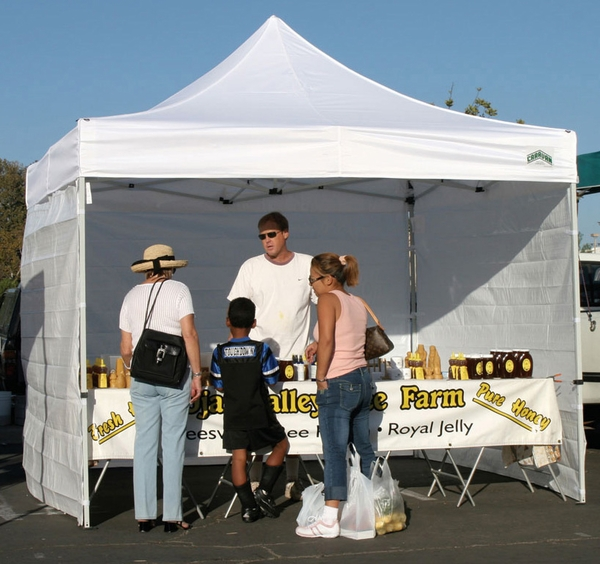Caravan 10 x 10 displayshade canopy value package 4 for 10x10 craft show tent