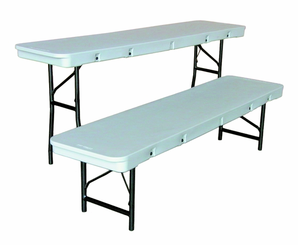 Commercialite Plastic Folding Table   72 Inch X 18 Inch