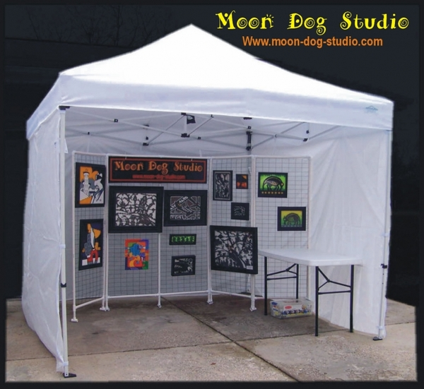 craft show 10x10 canopy package deal 4 sidewalls u0026 weight - Canopy