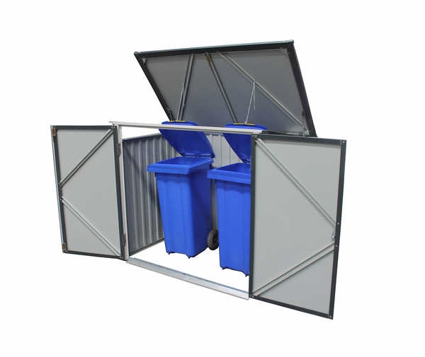 Duramax 5 X 3 Metal Trash Bin Lean To Shed Kit