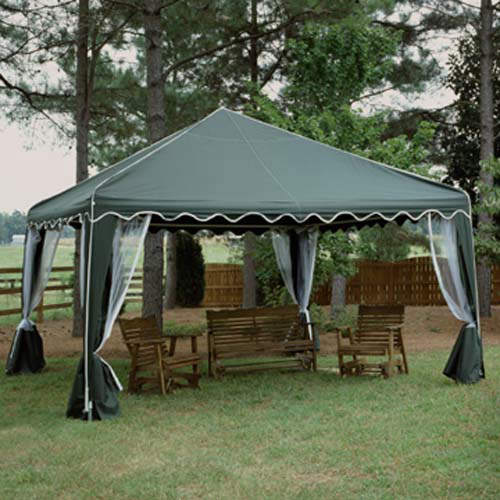 Garden Party Canopy Gazebo - 13 X 13 - Green & Party Canopy Gazebo - 13 X 13 - Green