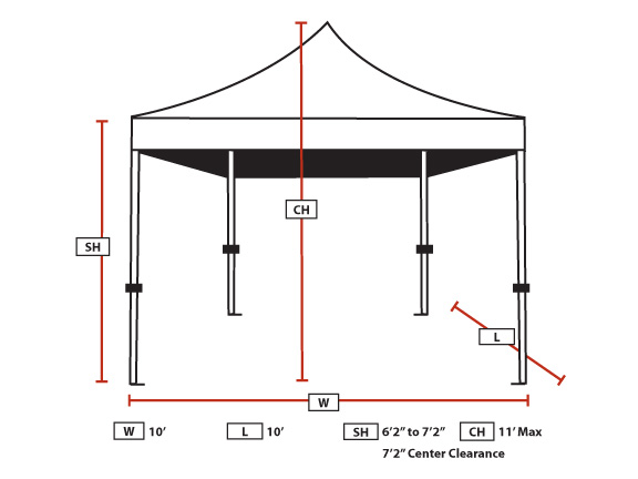 king canopy 10 foot x 10 foot festival straight leg instant canopy