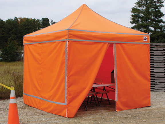 King Canopy 10 Foot X 10 Foot High-Visibility Orange