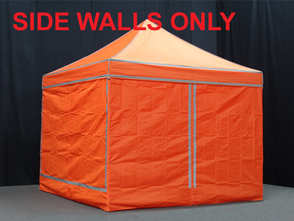 King Canopy 10 Foot X High Visibility Orange Instant Sidewall Kit