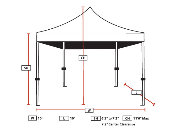 King Canopy 10 Foot x 10 Foot Tuff Tent Instant Canopy With Sidewalls  sc 1 st  eCanopy.com & Canopy 10 Foot x 10 Foot Tuff Tent Instant Canopy With Sidewalls