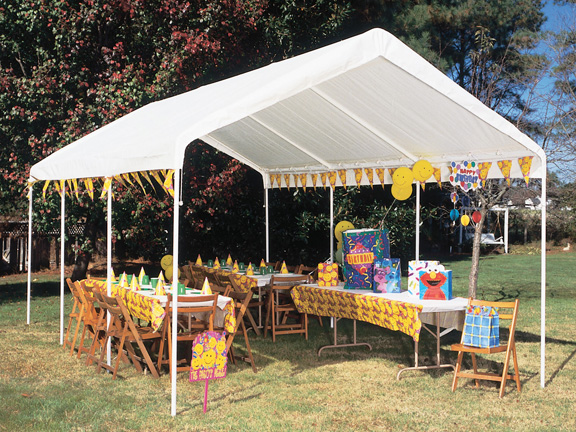 King Canopy 10 Foot x 20 Foot Universal Canopy with White Cover and Drawstrings : 20 by 20 canopy - memphite.com