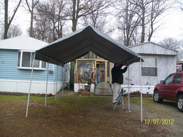 Shelter King Carport : King canopy universal outdoor shelter silver