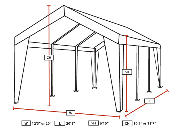 King Canopy 12X20 to 20X20 Expandable A-Frame Canopy  sc 1 st  eCanopy.com & Canopy 12X20 to 20X20 Expandable A-Frame Canopy