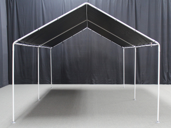 King Canopy   6 Leg   10 X 20 Portable Garage WithSilver Cover