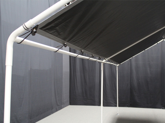 King Canopy Garage : King canopy leg portable garage withsilver cover