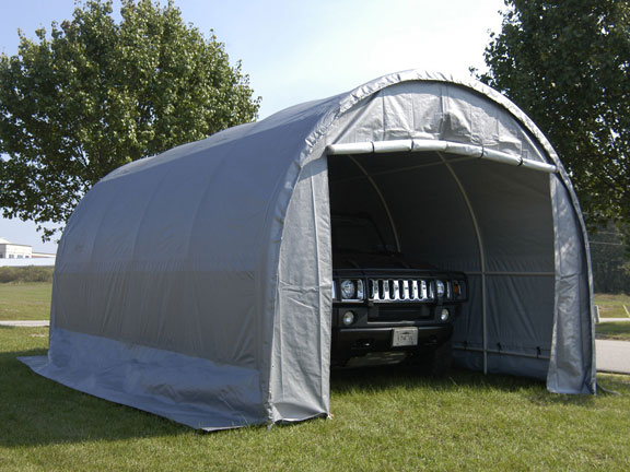 King Canopy Enclosed 10 Foot x 20 Foot Domed Garage Canopy & Canopy Enclosed 10 Foot x 20 Foot Domed Garage Canopy