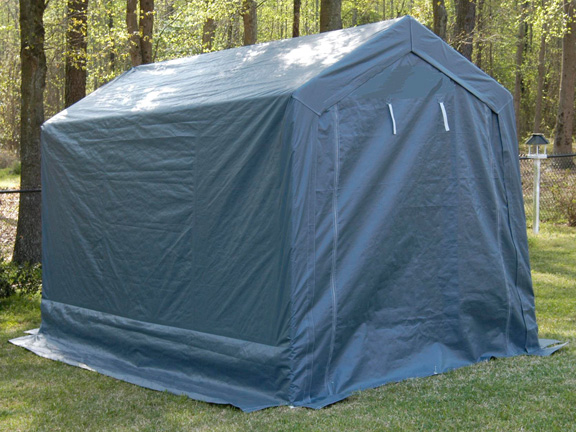 King Canopy Enclosed 7 Foot x 12 Foot A-Frame Garage Canopy & Canopy Enclosed 7 Foot x 12 Foot A-Frame Garage Canopy