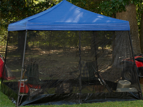 King Canopy One Piece Black Screen Room For 10 Foot X 10