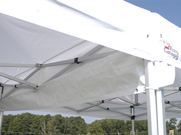 King Canopy Rain Gutter For Use Between Two Canopies