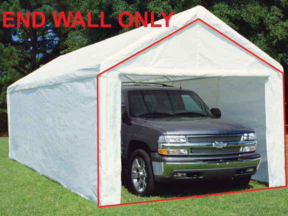 King Canopy White Canopy Endwall with Zipper and Flap - For 10 Foot Models & Canopy White Canopy Endwall with Zipper and Flap - For 10 Foot Models